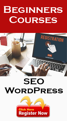 Register for Online SEO and WordPress Classes