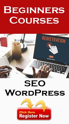 Register for Online SEO and WordPress Classes